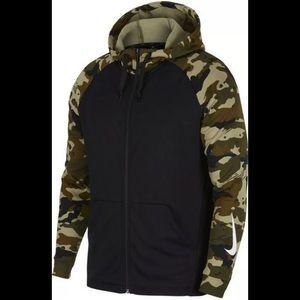 Nike Dry Men's Green/Black/Camo/Mult FZ Hoodie Med